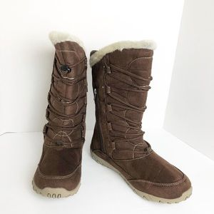 Polar Edge Suede LaceUp Winter Boots. Size 9